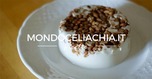 Dessert al cocco e riso soffiato al cioccolato - senza glutine -
