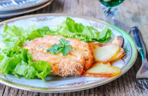 Hamburger di salmone con patate senza glutine -